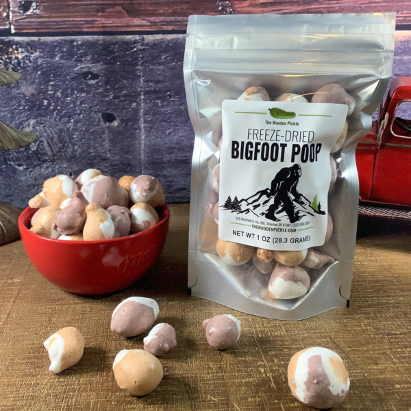 Freeze Dried Bigfoot Poop, Sasquatch Candy, Crunchy Candy Snacks, Salt Water Taffy, Unique Candy, Smores, S'mores Taffy