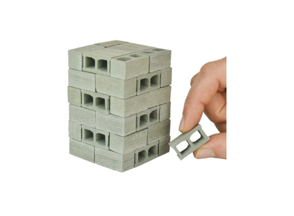 48 Miniature Concrete Blocks Made of Cement - Premium Quality - 1/12 Scale, Perfect for Diorama Supplies, Unique Gifts for Men, Desk Toy