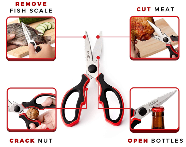 KABBLE Premium Heavy Duty Kitchen Shears, Multifunction Kitchen Scissors, Latest and Smart Designed, As Sharp As Any Knife